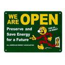 看板 店舗用 レディキロワット (REDDY KILOWATT) サインボード (OPEN グリーン) メッセージ プラスチック看板 アメリカン雑貨