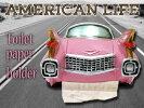 アメリカントイレットペーパーホルダー(キャデラック/AZ-492)アメ車トイレアメリカンダイナーオブジェガレージビンテージアメリカン雑貨アメリカ雑貨看板