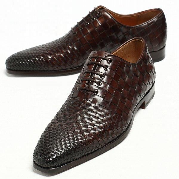 マグナーニ 靴 MAGNANNI   セレクションライン ボロネーゼ製法 イントレチャート レースアップ シューズ 18237 / ダークブラウン:Legare