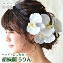 ヘッドドレス 花 ウェディング 胡蝶蘭 5輪 | ウエディング 髪飾り...