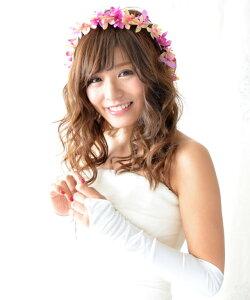 ヘッドドレス(髪飾り)【花冠】パッション