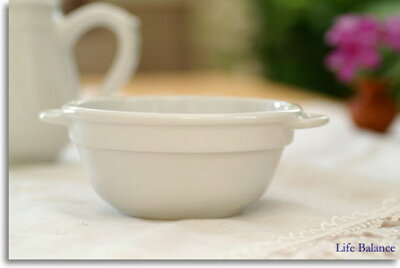 ピリヴィのとろける様な磁器の白さは魅力♪フランス製 PILLIVUYT (ピリヴィ)耳付きスタッキ...