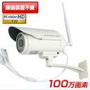防犯カメラ ワイヤレス SDカード 100万画素 録画 屋外 監視カメラ 新モデル 限定ホワイト 防水・暗視対応 動体検知 人感センサー 小型 AP 1