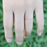 リングダイヤモンド0.05ct北斗七星レディース18金18kK18北斗北斗星七つの星