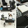 パソコンデスク【幅160cm×奥行160cm】デスクワークデスクPCデスクL字デスクコーナーデスク机つくえパソコン机パソコンラックL字型ガラス