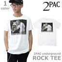 トゥーパック/2PAC/UNDERGROUND Tシャツ ロックT バンドT ヒップホップ ロゴT 正規品 本物WHITE ホワイト/ネコポスのみ送料無料/