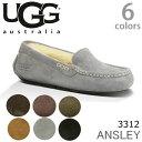UGG/アグ 正規品 ANSLEY/アンスレーもこもこムートンモカシン♪スリッポン スエード レディース オーストラリア シープスキン モカシン ANSLEY 3312