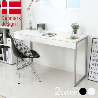 デスクパソコンデスクおしゃれなスチール脚の北欧デスク幅130cm北欧家具北欧デンマーク産