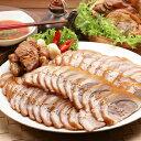 【送料無料】【冷蔵便】ジャンチュンドン スライス 味付け 豚足 400g 市場 スンデ 500g 韓国 食品 料理 おつまみ コラーゲン 3
