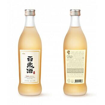 【送料無料】麹醇堂 百歳酒 375ml 5本 ベクセジュ 韓国 食品 料理 食材 伝統酒 薬草 高麗人参 米酒 健康酒