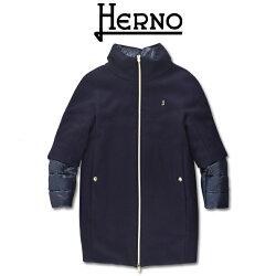 【2020FW】HERNOKIDS(ヘルノキッズ)異素材ミックスノーカラー中綿コート8A【8歳】