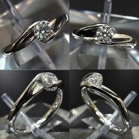 【一粒ダイヤモンド0.326ct】Pt900プラチナ指輪/リング約#9号レディースジュエリーアクセサリー【】【真子質店】【16may3】【MaMax】