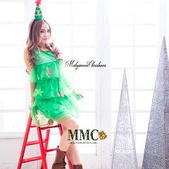 ツリーサンタクリスマスコスプレ衣装【人気】サンタコスクリスマスパーティーコスチューム面白人気イベントミニセット【JM087】