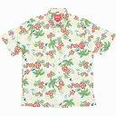 183046 南国クイナ(スリムフィットシャツ) メンズ アロハシャツ かりゆしウェア