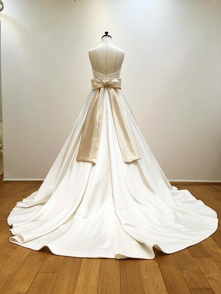 リボンベルトゴールドサテン【送料無料】ウエディングウェディングウェディングドレスウエディングドレスアレンジ結婚