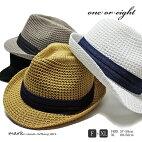 oneoreight/ワンオアエイト大きいサイズ対応サーモメッシュアゼアミ中折れハットメッシュハットメンズレディースハット帽子ニットニットハットゴルフカジュアル春夏涼しい通気性FREEフリーサイズXL