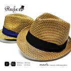 メンズ麦わら帽子大きいサイズ対応大きい帽子ストローハットペーパーハット麦わら帽子メンズ帽子涼しい夏ゴルフリゾート大きいFREEフリーサイズXLサイズ調節RUBENルーベンMIXPAPERHAT