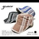 【あす楽対応】grace/グレースBLANKET CAP ランダムストライプ ワークキャップフリーサイズ FREEサイズ調節可能 全3色メンズ 帽子 キャスケット ゴルフ【RCP】 891177