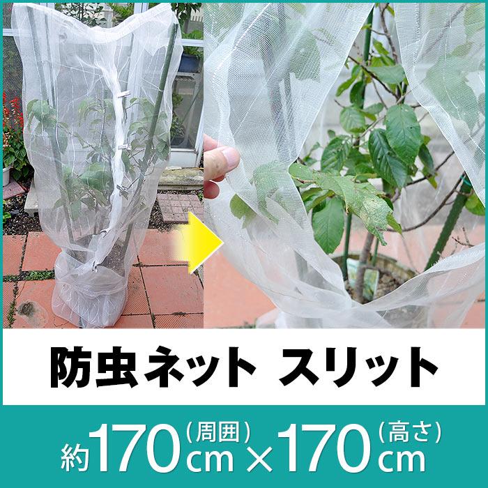 スリット防虫ネット 周囲170cm×高さ170cm(網目約1mm目)