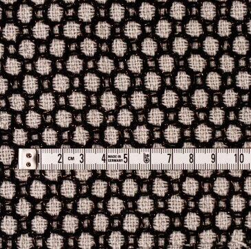厚手 ウール&ポリエステル ラメ入りファンシーツイード(モノクロ) 10cm単位 150cm幅 1.4mm厚