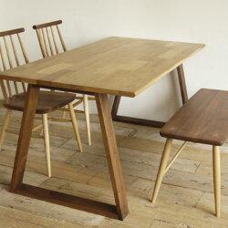 kitoki(キトキ/きとき)makanai table(まかないテーブル)ダイニングテーブル+KIQチェア+KIQベンチ
