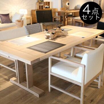 City ダイニングテーブルセット 4人掛け ベンチ 無垢 オーク 4点セット ダイニングソファーセット 低め 無垢材 ダイニング4点セット ソファベンチ ホワイト 【ポイント10倍】【送料無料】※幅によりお値段が異なります。