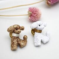 ブローチ犬プードル動物アンティーク風おしゃれきれいかわいい和装着物ギフトプレゼントルチカ