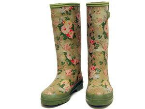 キャスキッドソン/花柄レインブーツ【中古】キャスキッドソン レインブーツ 雨靴