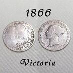 1866年 ヤングヘッド ヴィクトリア女王 イギリスが最も栄えた時代 古い通貨 幸福の6ペンスコイン スターリング シルバー ハッピー ウェディング シックスペンス 花嫁 ラッキー アンティーク 銀貨 結婚 プレゼント 【中古】