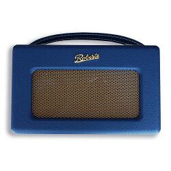 ROBERTS RADIO ロバーツラジオ R300 レザークロス ブルー バックライト付き 英国
