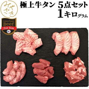 1018 1019 ギフト 贈り物 パーティー 牛タン 厚切り 5点セット 1kg タン元 焼肉 牛肉 200g x 5パック 冷凍 メガ盛り