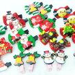 バリエーション豊富なクリスマスモチーフ付きヘアクリップ(2個セット)