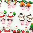 クリスマスモチーフ付きミニミニサイズのヘアクリップ(2個セット)