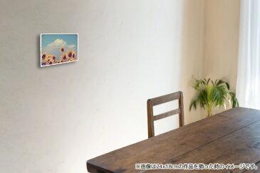 絵画 絵 のように美しい 和紙 手作り オリジナル 風景 アートパネル 「入道雲と顔を出したヒマワリの花」(24x18cm) 黄色 風水 花 壁掛け モダン アート 和風 インテリア 風景画 ランキング おすすめ おしゃれ 人気 キッチン リビング ダイニング 玄関 寝室 和室 きれい 癒し