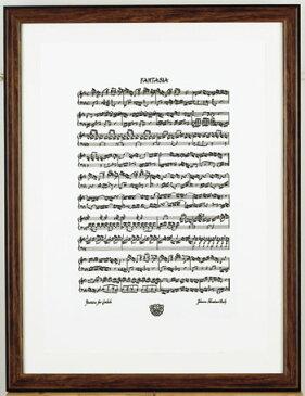 バッハカリグラフィーシルクスクリーンポスター/ファンタジア【ミュージック・フォ・リビング/ MUSIC FOR LIVING】