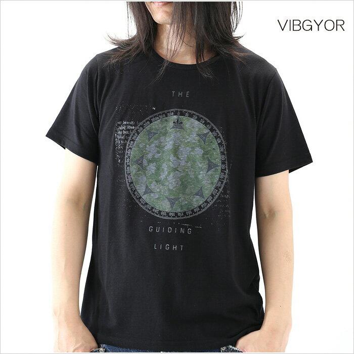 VIBGYOR ビブジョー Tシャツ メンズ GUIDING LIGHT M Lサイズ ホワイト ブラック