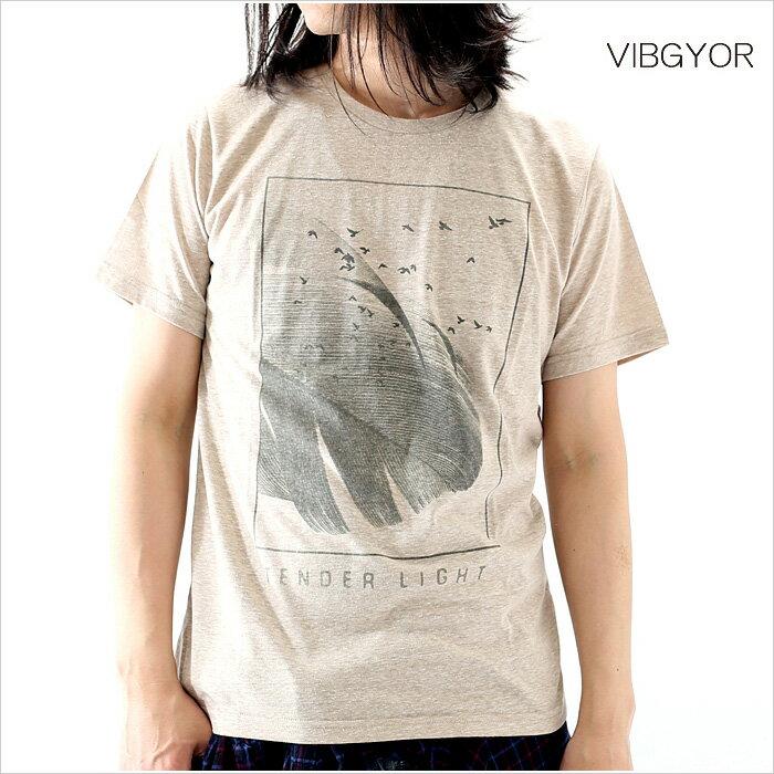 VIBGYOR ビブジョー Tシャツ メンズ TENDER LIGHT M Lサイズ ホワイト ブラック