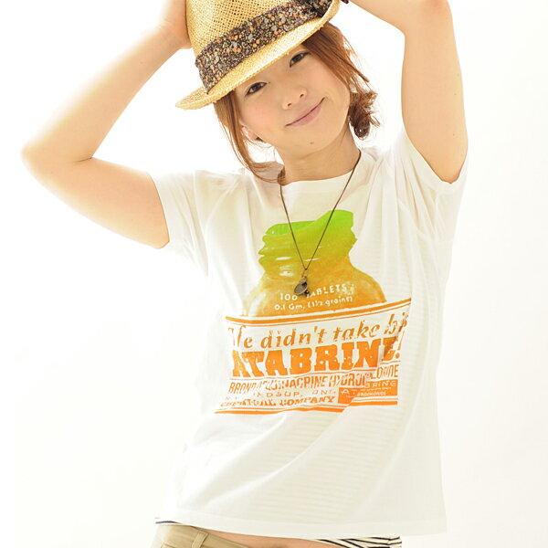 Tシャツ 半袖 atabrine 【conception design /SS】Tシャツ メンズ レディース プリント XS〜Lサイズ 4色 服画像