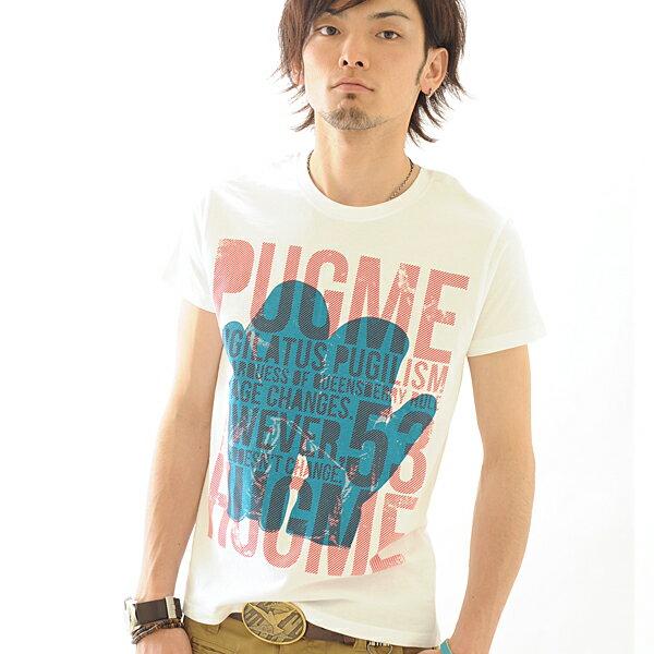 Tシャツ 半袖 PUGME 【conception design /SS】Tシャツ メンズ レディース プリント XS〜Lサイズ 3色 服画像