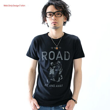 Tシャツ 半袖 プリント ROAD ネコポス 倉敷児島発 /SS ネット限定 Tシャツ XS S M L XLサイズ