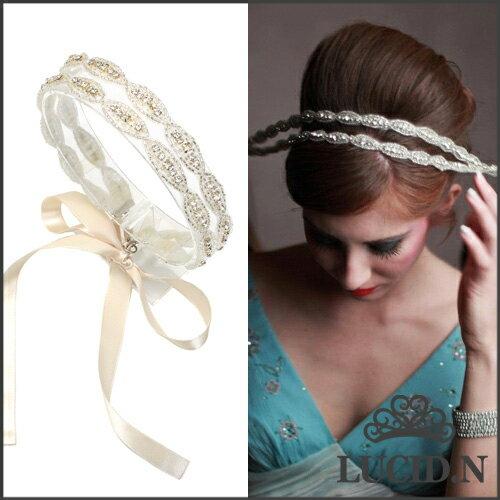 スパークリング ジェムズ ヘアバンド 2nd Sparkling gems Hairband-2☆手作り ウェディング ヘッド...