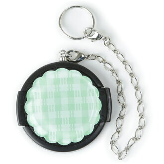 40.5 mm / Deco lens cap /Deco-lenscap / Mint green check (flower shaped)