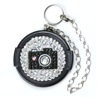 46 mm / Deco glitter camera / lens cap /Deo-lensap