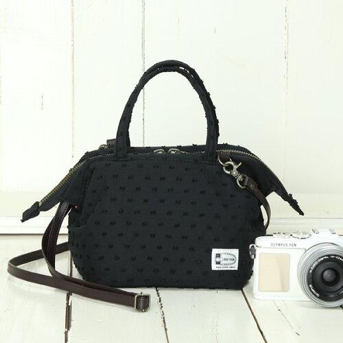 カメラバッグ camera bag MI-NA ミーナ おしゃれ 2WAYミニボストンバッグ/ブラックモーリー