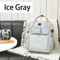 [送料無料]カメラバッグおしゃれかわいい☆ミーナオリジナル☆カメラバッグ/スクエアリュック/IceGrayアイスグレー