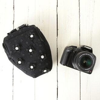佳能 EOS 吻 x 5 和 X 50,X6i,D5100,尼康 D5200 D3200,賓得 k-30,奧林巴斯 e-OM-D M5,相機女孩和可愛! 單反相機包黑色禮服超薄相機花珍珠