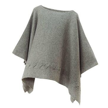 【ニットポンチョmino】winter yoko wool & cashmere ライトグレー フリーサイズ ウール&カシミヤ [送料無料]