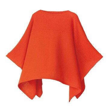 【ニットポンチョmino】winter boucle & air wool yoko オレンジ フリーサイズ ウール [送料無料]