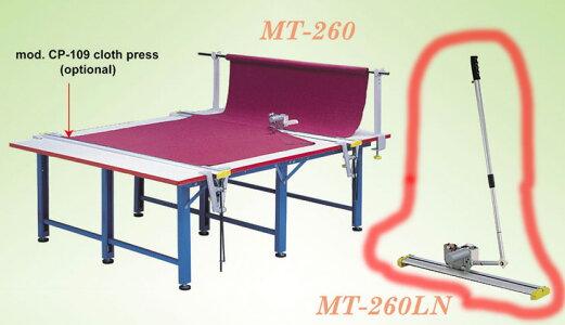 エンドカッター220V50Hzレール付(220cmmまたは280cm)刃のサイズ110cmMT-260
