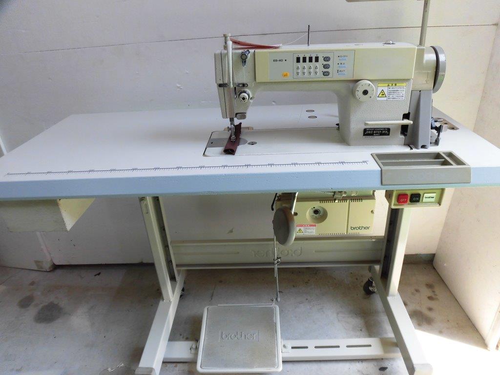 【中古】 ブラザー BROTHER 1本針自動糸切り付きミシン DB2-B737-303 ES40:ミシン屋さん117